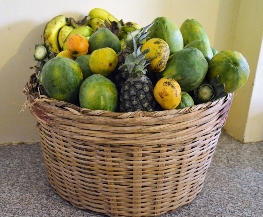 Fruits in a woven basket